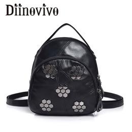 wholesale Fashion Rivet Backpack Female Simple Mini Backpack For Girls Punk  Soft PU Leather Travel Backpacks Shoulder Bags LBF29 c87de4a70a