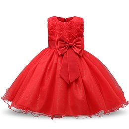 Chinese  Newborn Baby Dress Kids Party Wear Princess Costume For Girl Tutu Bebes Infant 1 2 Year Birthday Dresses Girl Summer Red Clothes manufacturers