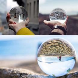 Clear Balls Australia - 80mm Photography Lensball Clear Glass Crystal Ball Healing Sphere Photography Props K9 Glass Lensball Decor Gift