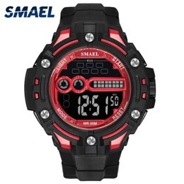smael watches Canada - Digital Wristwatches Waterproof SMAEL Watch Top Brand S Montre Men Watches Digital LED 1526 Mens  Watches Sports