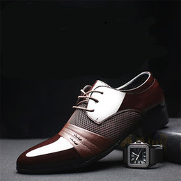 $enCountryForm.capitalKeyWord NZ - 2018 New Arrival Men Shoes Black Brown Burgundy Genuine Leather Men Business Shoes US Size 7-11 With Free Shipping