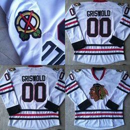 clark griswold 00 christmas vacation movie hockey jerseys all stitched mens white clark griswold jersey free shipping