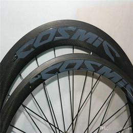Bicycle Hub Bearings Australia - WAST 700C Racing Bicycle carbon wheels 38mm Cosm blue black Carbon Road Bike Wheelset clincher 23mm width carbon fiber with bearing hubs