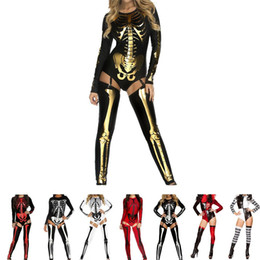 nightclub female uniforms 2019 - Brand New Halloween Carnival Cosplay Clothes Set Sexy Costume Skeleton Zombie Uniform Nightclub DS Show For Female Adult