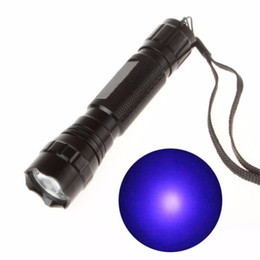 Uv led flashlight 365nm online shopping - UV WF B LED NM Ultra Violet Blacklight Flashlight Torch Light Lamp H7TY0