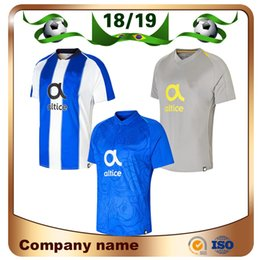 18 19 Porto Soccer Jersey 2018 Home Soccer shirt Away gray Third away Porto  Short sleeved club team Custom football uniforms Sale b077e67b9