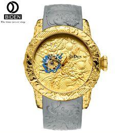 $enCountryForm.capitalKeyWord UK - BIDEN Luxury Mechanical Watches Men Silicone Bracelet Watch Automatic Self Wind Watch Waterproof Self-winding Clock Wristwatches