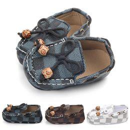 $enCountryForm.capitalKeyWord Australia - Baby Boy Shoes PU Leather Plaid Newborn Boys Soft Sole Crib Shoes First Walker Infant Prewalker Shoes 0-12M