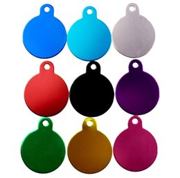 $enCountryForm.capitalKeyWord UK - DIY Dog ID Tags 100pcs lot Double Sides Pet Tags Premium Aluminum Oval shape 3.1*2.5*0.1cm 10 Colors