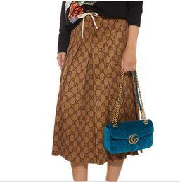 1010 2018 Freies Verschiffen Herbst Marke SAme Stil Röcke Mode Prom Mid Calf Luxus frauen Kleidung
