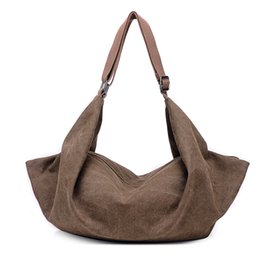 b0038a4ee175 Canvas big shoulder bag for women 2018 new fashion handbags large capacity  simple style pure color female handbag drop shipping
