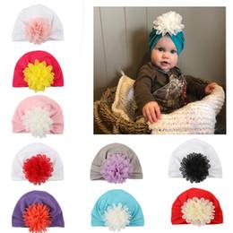 Newborn Flower Hats Australia - 2018 Newborn Child Stretch Flower Net Turban hat Cotton Beanies Cap Headband Hairband Beanie Headwear Headwrap Girl Hair Accessories