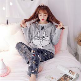 2017 Pyjamas Women Winter Pajama Ladies Flannel Animal Pajama Sets Female  Sleepwear Warm Plus Size Coral Fleece Xmas gift D18110501 6fc6ca6bb