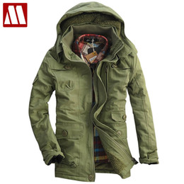 mens wool long coat green UK - Hot Style Men's Winter Coat Mens coon-padded Outerwear Warm thick Fleece Jacket Coon faux lambs wool overcoat Big size S-5XL
