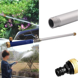 Wholesale high pressure hose online shopping - EZ Jet Water Cannon Garden Powerful Water Gun Aluminum Alloy Spray Nozzle Lances Water Hose High Pressure Power Washer CCA9295