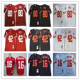 688d36a1b Best Quality 16 Joe Montana Deion Sanders 42 Ronnie Lott 2018 High Quality  Men jersey Stitching embroidery football Jerseys Wholesale