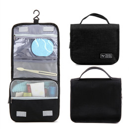 Portable Waterproof Travel Makeup Bag Colorful Foldable Organizer Travel  Cosmetic Toiletry Bathroom Beach Bag for Women with Hanging Hook 8e71eb7bf0bb4