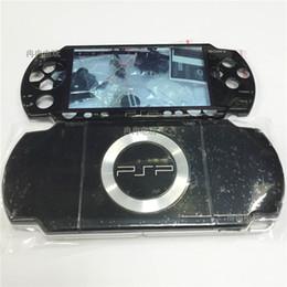Ingrosso Per PSP2000 PSP 2000 Game Console di ricambio custodia nera completa custodia custodia shell colore nero con kit pulsanti spedizione gratuita