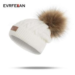 ca2bb48b128b14 Kids Novelty Beanies Australia - Evrfelan New Children Winter Hat For Girls  Fashion Knitted Thick Winter