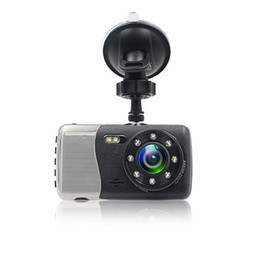 Rearview Screen NZ - Dash Cam 1296P FHD 4.0 inch IPS Screen Car dvr Camera Video Front and Rear Dual Lens Car Recorder G-Sensor Motion Detection Loop Recorder