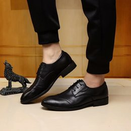 $enCountryForm.capitalKeyWord Canada - 2018 New Style Genuine Leather Men Lace-up Dress Shoes, Male Office Business Oxford Shoes ,Top Quality Brand Men Driving Party Casual Shoes