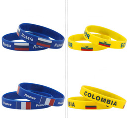 sports world 2019 - 2018 Russia World Cup sports bracelets Many Russia national flags silicone Wristband For Football soccer Fans Souvenir J