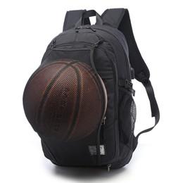 Male laptop bags online shopping - Sport Backpack Men Laptop Backpack School Bag For Teenager Boys Soccer Ball Pack Bag Gym Bags Male With Football Basketball Net