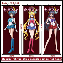 fool paint NZ - Anime Sailor Moon Crystal Sailor Moon Mizuno Ami Hino Rei Kino Makoto Minako Aino Beautiful hanging picture poster fabric painting mural