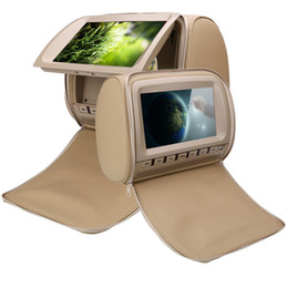 Screen headreSt car online shopping - 2x inch auto dvd for car dvd beige headrest video with USB SD FM IR Game rear seat