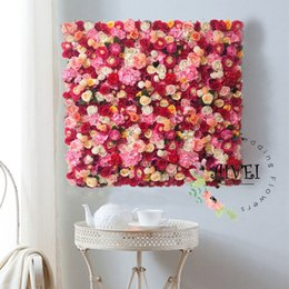 $enCountryForm.capitalKeyWord Canada - Wedding Flower Wall Background Artifical Rose Hydrangea Background For Romantic Wedding Photography or Indoor Shop Decoration Panels 40*60cm