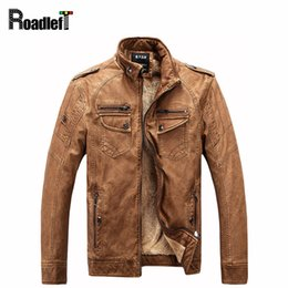 $enCountryForm.capitalKeyWord Canada - 2017 winter Men cotton wool liner PU leather jacket Mens Retro motorcycle jacket coat Man clothing casual outerwear jackets