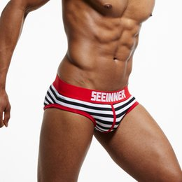 M~XL Sexy Mens Pouch Underwear SEEINNER Brand Cotton Briefs Slip Cueca Gay  Underwear Panty 079f947f6