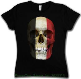 girls skull t shirt 2018 - Women's Tee Classic Egypt Skull Flag Woman Girlie Girl T-shirt - Biker Mc Banner Shirt Selling discount girls skull