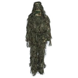 full hunting camouflage clothing 2019 - 4 Pieces Hunting Woodland Camo Sniper Ghillie Suit Tactical Camouflage Clothing Tactical Camouflage Clothing Hunting Clo
