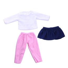 Discount bl dress - 3Pcs Set American Girl Doll Clothes Set Winter Coat Dress + Legging For 18 Inch Doll Suit Set Fit 43cm Baby Born Zapf Do
