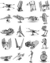 nano helicopter Australia - 168 Designs Metal 3D puzzles Toys model DIY Aircraft Cars Tanks Tie Fighter Planes 3D Metallic Nano building puzzle for Adults and Kids