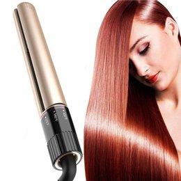 Großhandel Professioneller Haarglätter Salon Styler-1-Zoll-Glätteisen zum Glätten und Kräuseln der Haare in einem Schritt Temperatureinstellung einstellbar