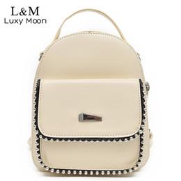 $enCountryForm.capitalKeyWord Canada - Fashion Mini Backpack Women For Teenage Girls School Bag Sweet Lady 2018 Multi-function Rivets Travel Small Backpacks XA466H