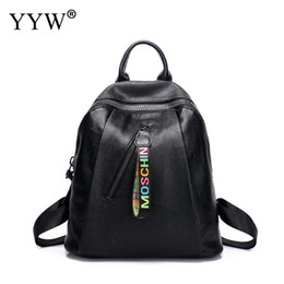 ba1d194fe2 High Quality Pu Leather Women Backpack Fashion Solid School Bags For  Teenager Girls Casual Women Black Backpacks For Headphone