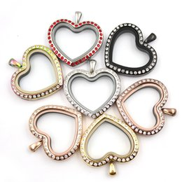 pendants charms manufacturers 2019 - locket manufacturer 316L stainless steel heart shape floating locket charms memory Lockets pendant crystal pendant puzzl