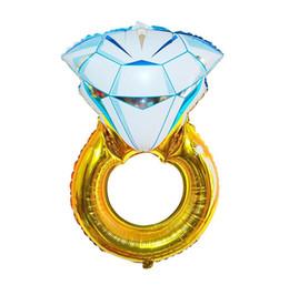 $enCountryForm.capitalKeyWord UK - New 30 inch Lover Wedding Marriage Balloon Diamond Balloon Bride Ring Engagement Foil Valentine Balloons Party Toys SN814