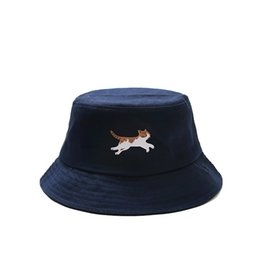 $enCountryForm.capitalKeyWord UK - summer cap for women cotton Literary bucket hats Japanese style cute cat artistic fisherman hat holiday yacht hats youth girls