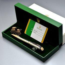 Qualidade superior conjunto caneta para melhor presente exclusivo grade de metal RX escrever canetas esferográficas + clássico marca abotoaduras + caixa de presente bonito