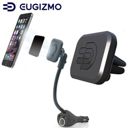 port mount Australia - Eugizmo Car Magnetic Phone Holder with Dual USB Port Charger Cigarette Lighter Socket + Magnetic Vent Mount for Universal Smartphones