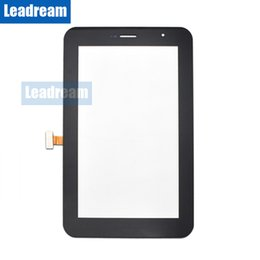 samsung digitizer UK - Touch Screen Digitizer Glass Lens with Tape for Samsung Galaxy Tab 7.0 Plus P6200 free DHL