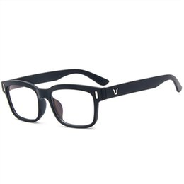 Discount computer glasses protection High Quality Anti-Fatigue Anti-Radiation 0 Diopter Glasses Unisex Plain Glass Spectacles Computer Protection Eyewear Fra