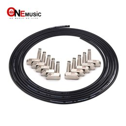 Effects Pedal Kit UK - DIY Guitar Pedal Patch Cable Solder-free Pedal Board Copper Cable Kit Set 10ft 10 Angle Audio Solderless 6.35 Mono Plugs For Effect Pedal