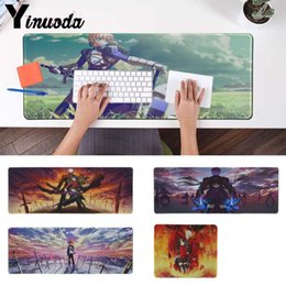 Wholesale Yinuoda Top Quality Fate Stay Night Rubber Mouse Durable Desktop gaming Mouse pad Computer Laptop Anime pad gamer