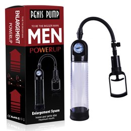 Men Sex Toy Gay NZ - YUELV Beginner Male Penis Enlarger Vacuum Pump With Master Pressure Gauge Cock Enlargement Erection Adult Sex Toys For Men Gay Sex Products