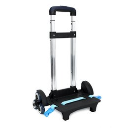 Discount school bags mochilas kids backpacks - 3 Wheel Fold Pull Rod Bracket Roll Cart Trolley School Bags easy climb the stairs,mochila infantil rodinha mochilas scho